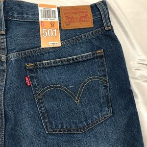Levi's 501 denim button down short